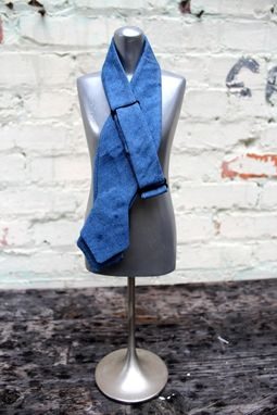 Custom Made Custom Chambray Bow Tie