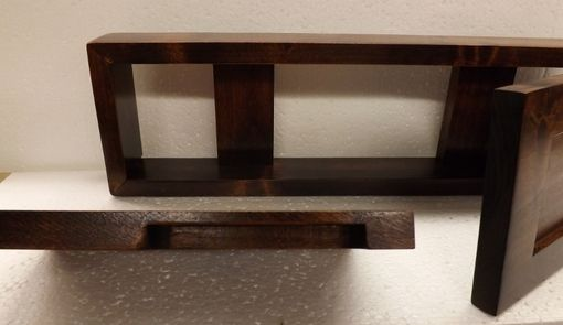 Hand Crafted Small Wooden Shelf Cabinet For Above Bathroom Sink By Wolf Creek Woodworks