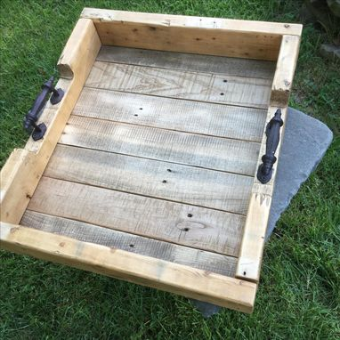 Custom Made Industrial Style Rustic Wood Tray