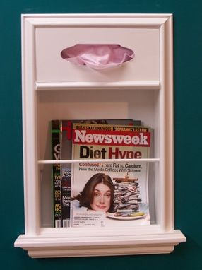 Custom Made Mr-7 In-The-Wall Magazine Rack/Tissue Dispenser