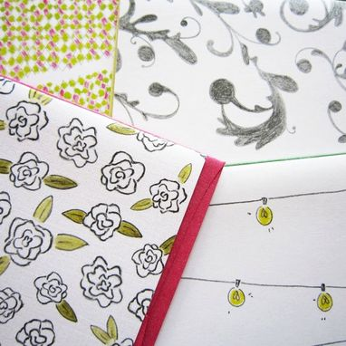 Custom Made Flowers & Swirls Stationery Set