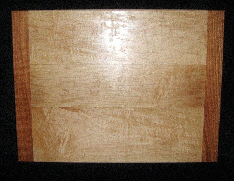 Hand Crafted Custom Maple And Oak Pull Out Cutting Board By