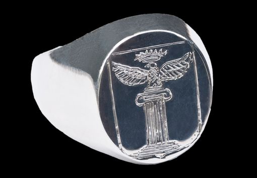 Custom Made Silver Signet Ring