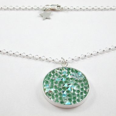 Custom Made Sterling Silver And Swarovski Crystal Necklace