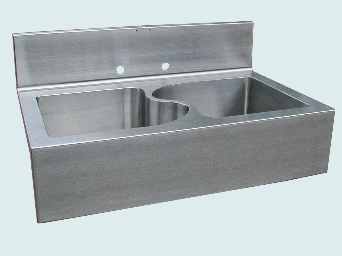 Farmhouse Sink With Divider : Hand Crafted Stainless Sink With