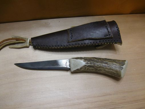 Custom Made Nicholson File Knife With Custom Sheath