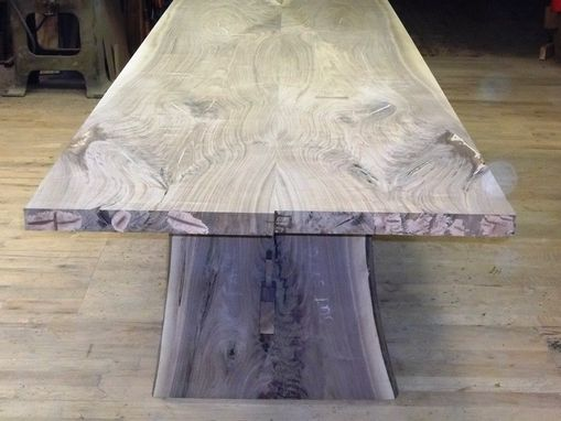 Custom Made Black Walnut Live Edge Slab Table