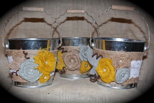 Custom Made Flower Girl Baskets