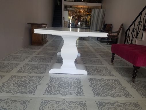 Custom Made Dining Table White Finish