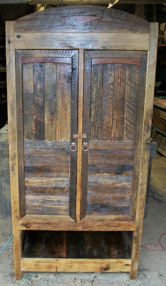Custom Reclaimed Wood Armoire By Patricks Upholstery