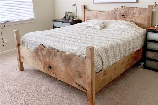 Custom Made Gorgeous Live Edge Maple Bed