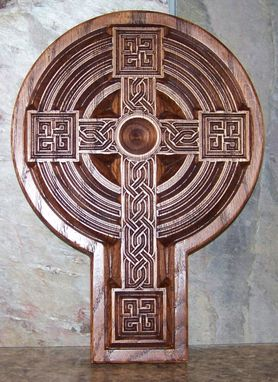 Custom Made Carved Celtic Cross