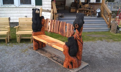 Custom Made Special Bear Bench
