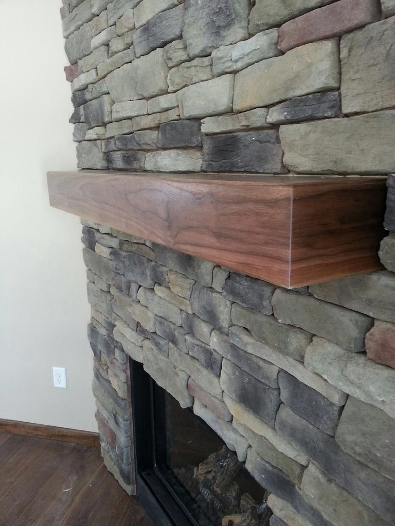 Handmade Walnut Mantel by Custom Woodgrains | CustomMade.com