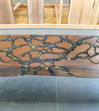 Custom Made Fractal River Console End Table