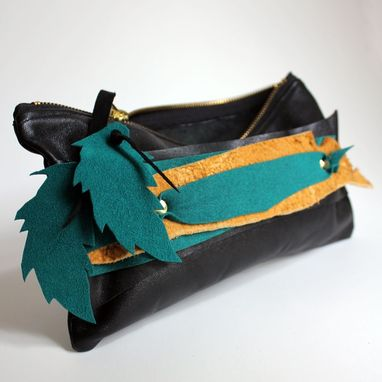 Custom Made Recycle Your Leather Jackie Clutch
