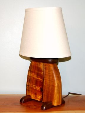 Hand made hawaiian koa wood art deco slab table lamp by puffball hawaiian koa wood art deco slab table lamp mozeypictures Images