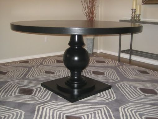 Custom Made Custom Round Pedestal Table