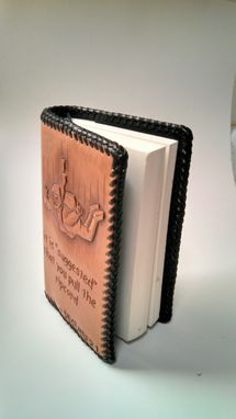 Custom Made Hand Carved Leather Daily Reflections Book Cover