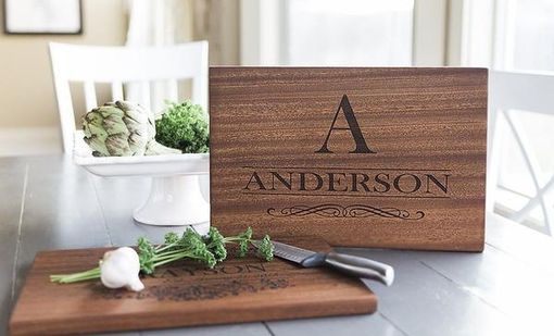 Custom Made Personalized Beautiful Large Mahogany Cutting Board