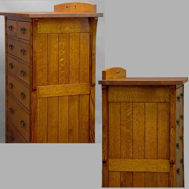 Hand Made Tall Mission 9 Drawer Chest By Dryad Studios