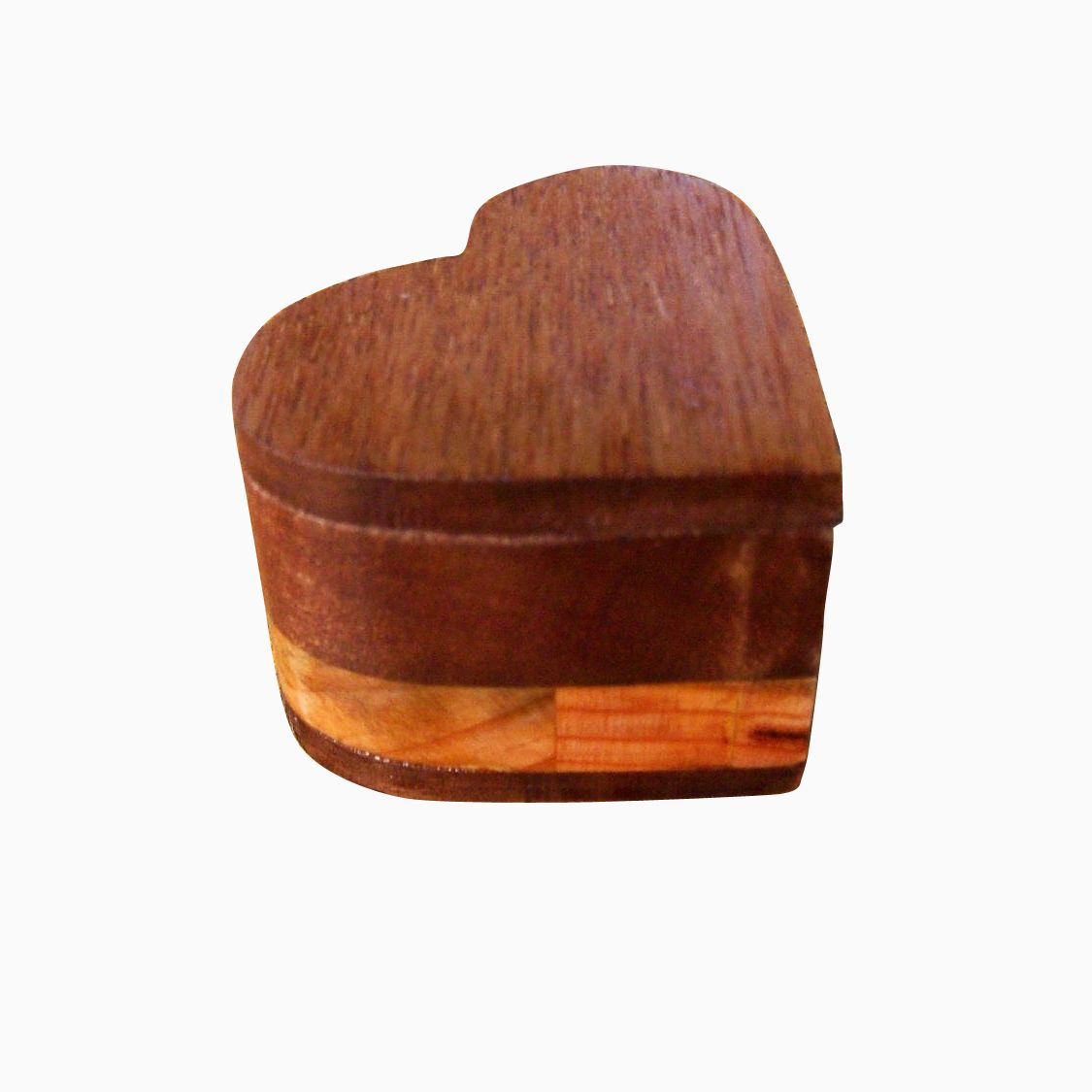 buy a custom heart shaped wooden ring box made to order