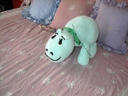 "Custom Made 15"" Happy Hippo - Happily Crocheted"