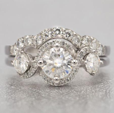 diamond custom designed engagement with rose detail ring collet taylor rings us jewelry hart gold