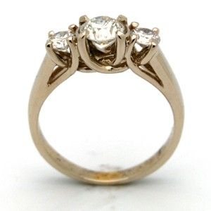 Custom Made Three Diamond Ring