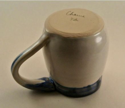 Custom Made Blue And White Mug