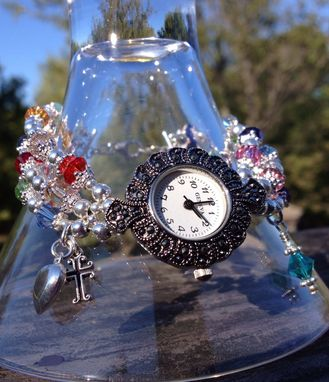 Custom Made Swarovski Crystal Mother's Charm Watch/Bracelet