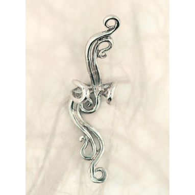 Custom Made French Twist Ear Cuff Silver