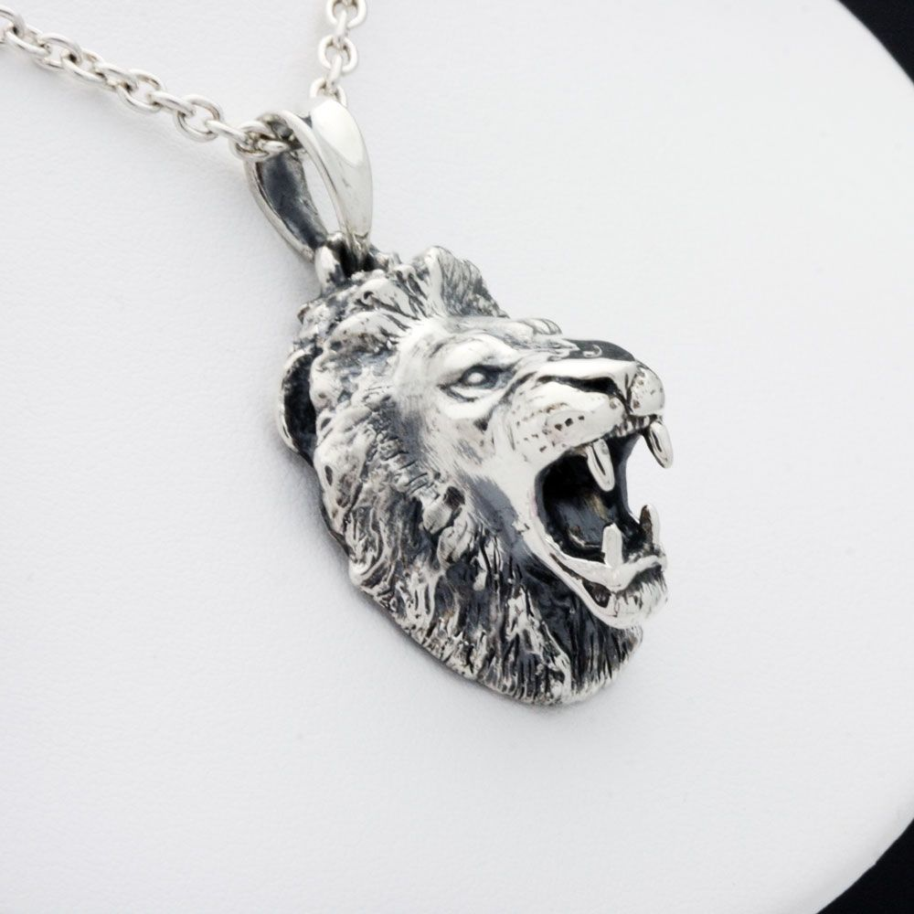 Handmade roaring lion pendant by mava style custommade custom made roaring lion pendant aloadofball Image collections