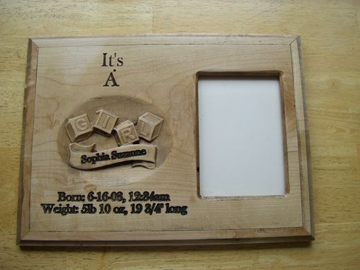Custom Made Maple Newborn Announcement