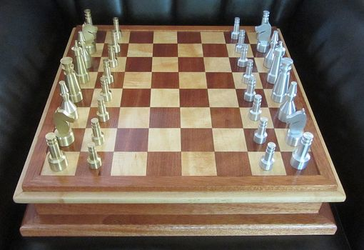 Custom Made Art Deco Chess Ensemble