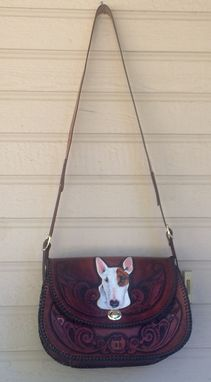 Custom Made Leather Pet Portrait Handbag