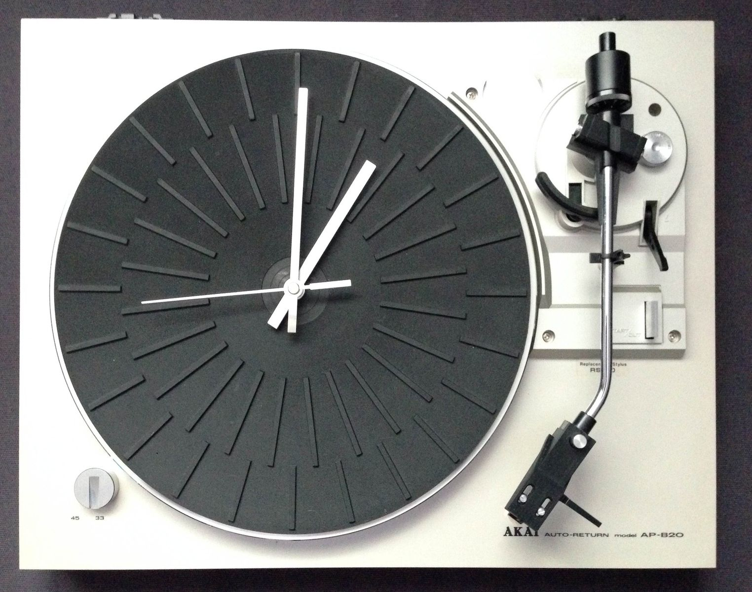 Custom retro turntable wall clock by span audio custommade custom made retro turntable wall clock amipublicfo Gallery