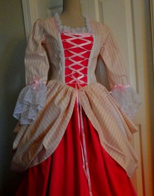 Custom Made 1700'S Vintage Style Wedding Gown Or Reproduction Costume