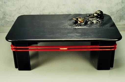 Custom Made Contemporary Sculpted Coffee Table