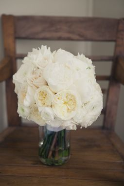 Custom Made Whites & Creams Bridal Bouquet With Designer Roses