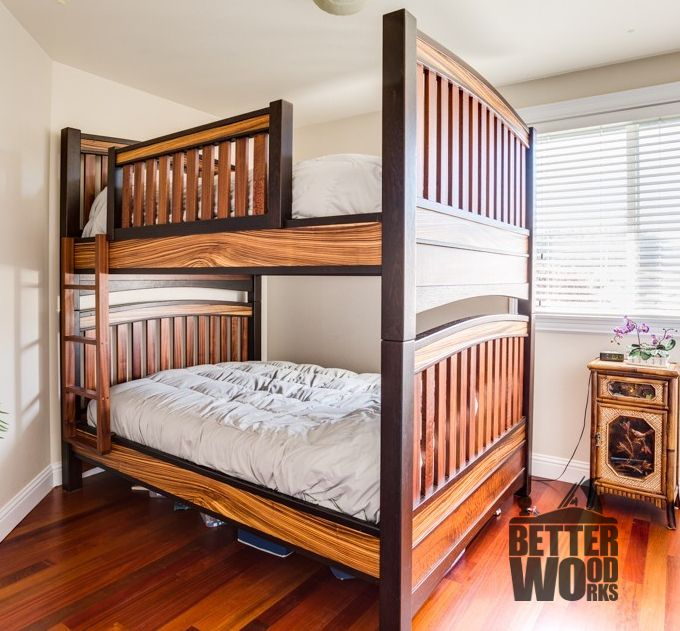 Hand Made Custom Exotic Wood Bunk Beds By Better Wood Works