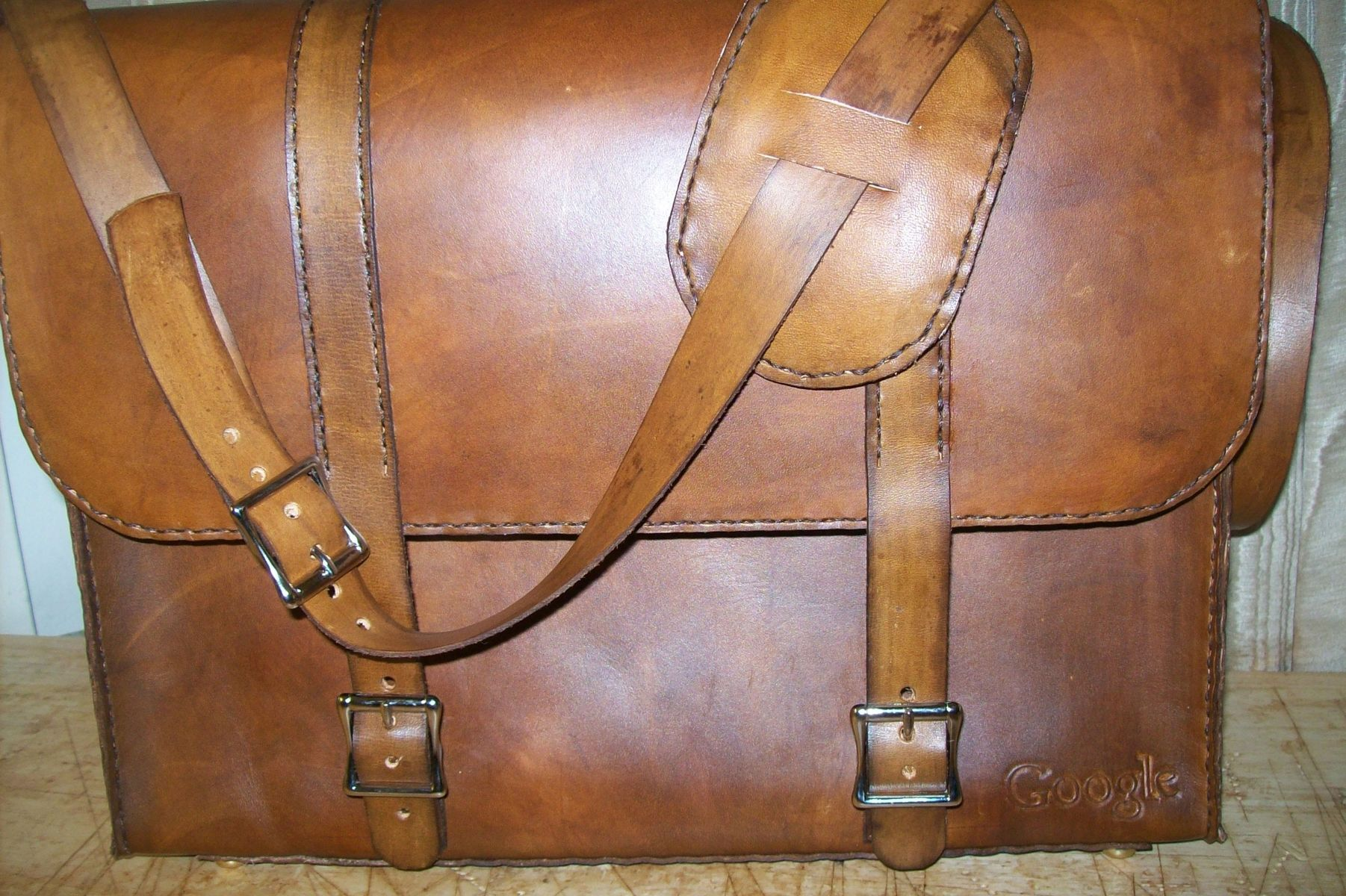Custom Made Leather Laptop Bag With Business Logo