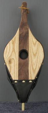 Custom Made Contrasting Woods Fireplace Bellows