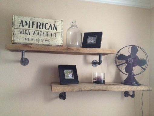 Custom Made Industrial Style Shelves