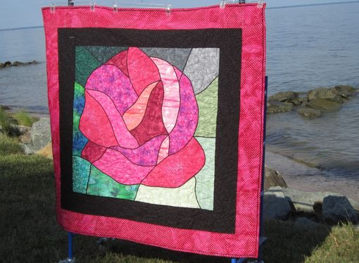Custom Made Stained Glass Rose