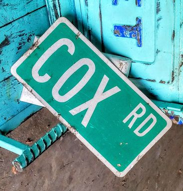 Custom Made Vintage Street Signs Cox Rd