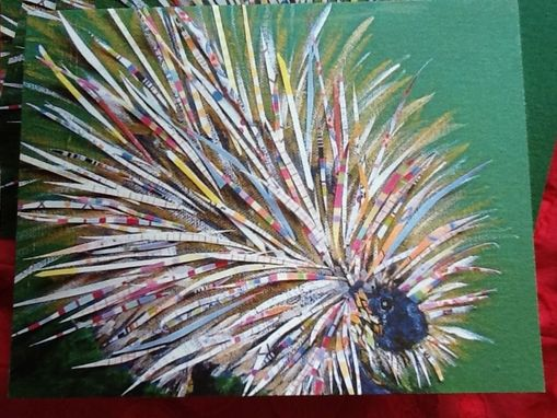 Custom Made Mischievous Porcupine Notecard Set