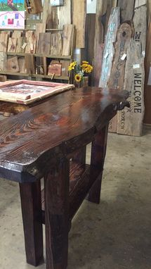 Custom Made Rustic Pine Entry Table