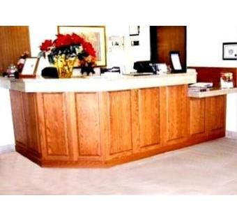 Custom Made Hotel Check-In Desk & Continental Breakfast Cabinetry