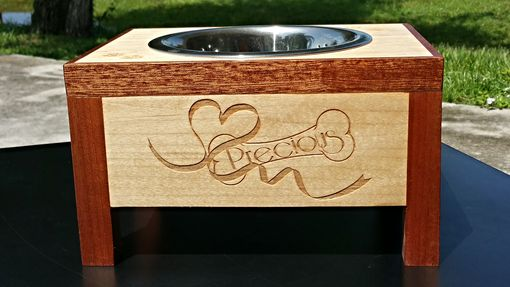 Custom Made Personalized Elevated Pet Bowl Stand